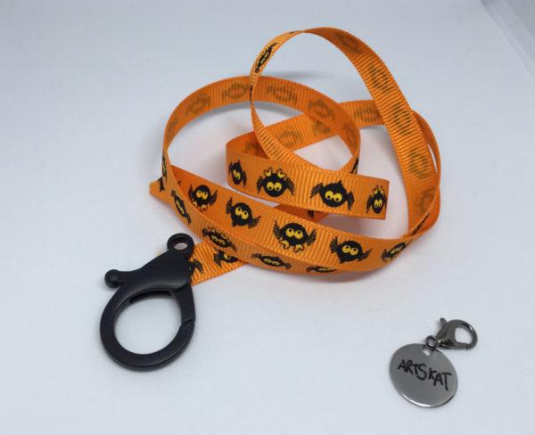 collar-mask ArtSkat PACK uno HALLOWEEN ARAÑA SPIDER NARANJA