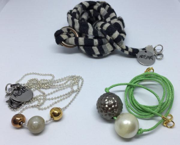collar-mask ArtSkat PACK tres textil anillo plata + verde