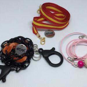 collar-mask ArtSkat PACK TRES ROSITA CADENA NEGRA BANDERA