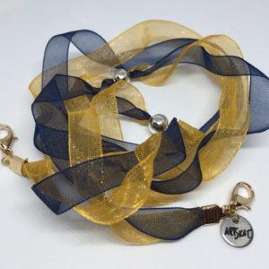 collar-mask ArtSkat PACK UNO MAMÁ FINA AZUL Y DORADO